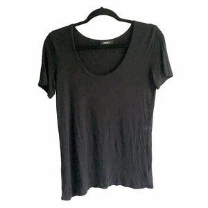 ARITZIA Scoop Neck Short Sleeve T-Shirt Black S
